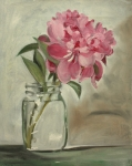 Flower Still Life Posters - Peony Poster by Sarah Lynch