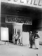 1910s Candid Posters - People In Front Of A Movie Theater Poster by Everett