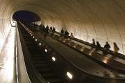 Tunnels Prints - People Riding The Dupont Circle Metro Print by Rich Reid