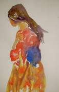 Clothed Figure Painting Posters - People Turned Away Poster by Beverley Harper Tinsley