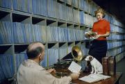 People Work In Rca Victors Vault Print by Robert Sisson