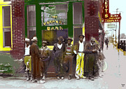 Black History Mixed Media - Peoples Bank by Charles Shoup