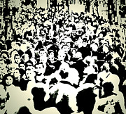 Crowds  Prints - Peoples Extract  Print by Jerry Cordeiro