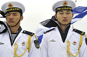 Peoples Liberation Army Navy Sailors Print by Stocktrek Images