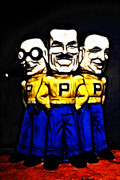 Mascots Digital Art Prints - Pep Boys - Manny Moe Jack - Color Sketch Style - 7D17428 Print by Wingsdomain Art and Photography