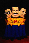 Car Mascots Digital Art Prints - Pep Boys - Manny Moe Jack - Painterly - 7D17428 Print by Wingsdomain Art and Photography