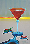 Wayne Thiebaud Framed Prints - Peppar Martini Framed Print by Michael Baum
