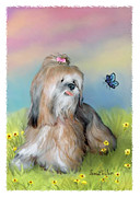 Puppies Digital Art Posters - Pepper in Dreamland Poster by Sena Wilson