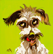 Contemporary Animal  Acrylic Paintings - Pepper by Mary J Russell