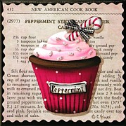 Kitchen Decor Framed Prints - Peppermint Stick Christmas Cupcake Framed Print by Catherine Holman