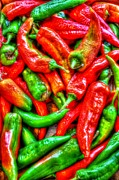 Salad Digital Art Prints - Peppers Print by Dan Stone