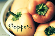 Calligraphic Prints - Peppers Print by Jayne Logan Intveld