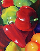 Hot Peppers Prints - Peppers Print by Joanne Robinson