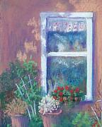Window Pastels - Peppers Window by Jo Castillo