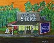 Pepsi Painting Posters - Pepsi Cola General Store Poster by Gordon Wendling