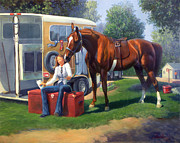 Show Horse Paintings - Pepsi Please by Jeanne Newton Schoborg