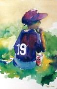 Baseball Cap Painting Prints - Pepsi Time Print by Maggie Clark