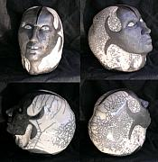 Head Ceramics - Perceptive Division Raku by John Gruber