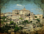 Altered Architecture Prints - Perched Village of Gordes Print by Carla Parris