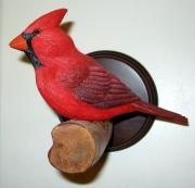 South Sculptures - Perching Cardinal by Robert Schultz