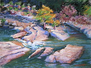 Texas Pastels Originals - Perdernales River Texas by Barbara Richert