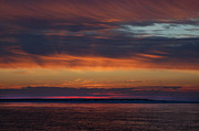 Orange Digital Art Originals - Perdido Pass Red Sunrise by Michael Thomas