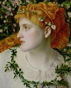 Red Hair Painting Posters - Perdita Poster by Anthony Frederick Augustus Sandys