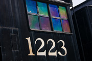 Old Train Photos - Pere Marquette Locomotive 1223 by Adam Romanowicz