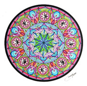 Circle Pastels Originals - Perfect Balance by Marcia Lupo