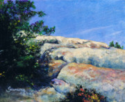 Lizards Paintings - Perfect Day at Lizards Mouth by M Schaefer