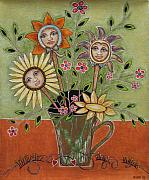 Folk Art Prints Posters - Perfect Garden Poster by Rain Ririn