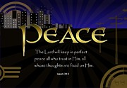 Scripture Digital Art. Scripture Digital Prints Prints - Perfect Peace Print by Greg Long