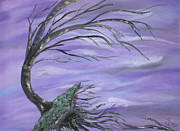 Tree Roots Paintings - Perfect Storm by Sesha Lee