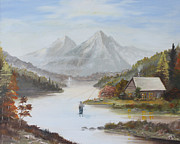 Landscape Painting Originals - Perfect vacation by Athol Fahey