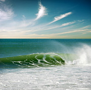 Green Metal Prints - Perfect Wave Metal Print by Carlos Caetano