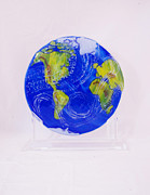 Globe Glass Art - Perfection by Michelle Ferry