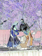 Lavenders Digital Art - Performers on Stage by Marilyn Holkham