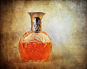 Glass Bottle Framed Prints - Perfume Bottle II Framed Print by Jai Johnson