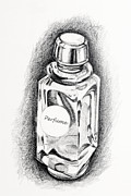 Container Drawings Prints - Perfume Print by ViZualstudio  