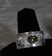 Peridot Jewelry - Peridot Silver Ring by Louise Musto-Choate