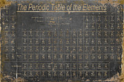 Distressed Framed Prints - Periodic Table of the Elements Framed Print by Grace Pullen