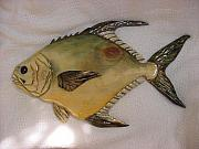 Aquatic Life Reliefs - Permit-Living Waters Series-SOLD by Lisa Ruggiero