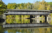 Structural Art Photos - Perrines Covered Bridge by Luke Moore