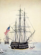 Old Sailing Ship Paintings - Perrys Expedition To Japan by Granger
