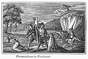 Anti Protestant Prints - Persecution Of Waldenses Print by Granger