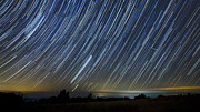 Startrails Posters - Perseid Smoky Mountain Startrails Poster by Daniel Lowe