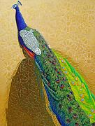 Peacock Framed Prints - Persian Fashion Framed Print by Vlasta Smola