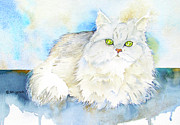 Persian Cat Paintings - Persian in Belgium by Jo Lynch
