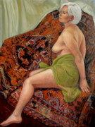 Actors Painting Originals - Persian Rug 3 by Donelli  DiMaria