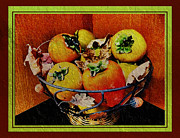 Persimmons Prints - Persimmon Fall Print by Edie Kynard
